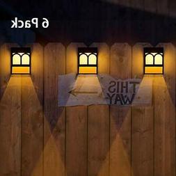 Solar Deck Lights, Led Decorative Wall Mount Fence Post Ligh