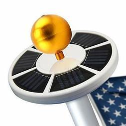 Maggift 26 LED Solar Flag Pole Light, Solar Flagpole Downlig