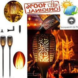 Solar Flame Flickering Lamp Torch waterproof Light Decoratio