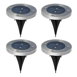 Outdoor Solar Flat In-Ground Light Set for Garden landscape