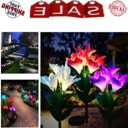 Solar Flower Lights Waterproof Outdoor Multi Color Changing