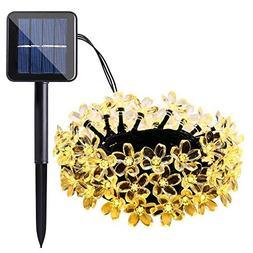 Qedertek Solar Flower String Lights, Cherry Blossom 22ft 50