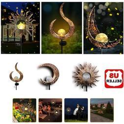 solar garden led lights outdoor metal decorative