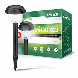 solar garden lights 8 pack super bright