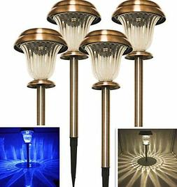 Sogrand Solar Lights Outdoor Pathway Garden Stakes Decoratio