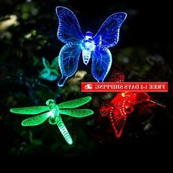 GIGALUMI Solar Garden Lights Outdoor - 3 Pack Solar Stake Li