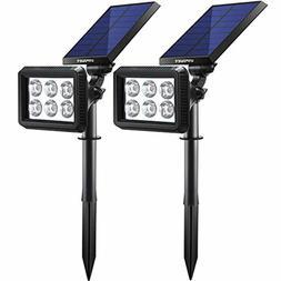 Solar Garden Spotlight Set Of 2 Home Functional LED Pathway