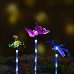 Solar Garden Stake Lights Outdoor, Sooreally Color Changing
