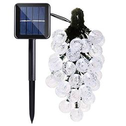 Solar Globe String Lights, 20ft 30 LED Waterproof Outdoor Gl