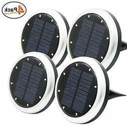 Maggift Solar Ground Lights, 8 LED Garden Pathway Outdoor In