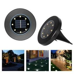 Solar Ground Lights Floor Decking Patio 8 LED Outdoor Garden