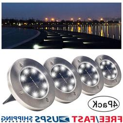 Solar Ground Lights,Garden Pathway Outdoor In-Ground Lights