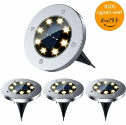 Solar Ground Lights Walkway Lights 8 LED Waterproof Solar Po