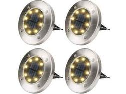 Solar Ground Lights - Warm White  Solar Disk Lights, Outdoor