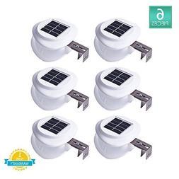 Solar Gutter Lights, DS Lighting Outdoor 9 LED Fence Light W