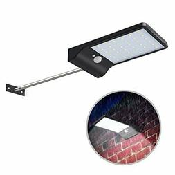Solar Gutter Lights Wall Sconces with Mounting Pole, 36 LED