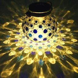 Sogrand Solar Christmas Decorations Glass Ball Table Light J