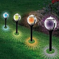 Iuhan 2Pcs Solar Landscape Light, Hot Sale 2Pcs Garden Pathw