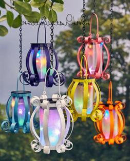 Solar Lantern Colorful Scroll Multicolored Lights Hanging or