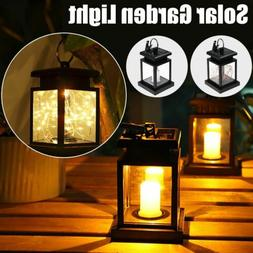 Solar Lantern Lamp Lights with Clips Hanging Outdoor Lawn Ga