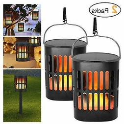 Solar Lantern Lights Outdoor Hanging Tabletop-Solar Flame To