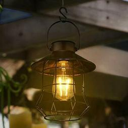 Solar Lantern Outdoor Hanging Light-Vintage Solar Table Lamp