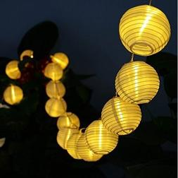 Solar LED Lanterns String Lights, ALED LIGHT 13.2Ft 4M 20 LE