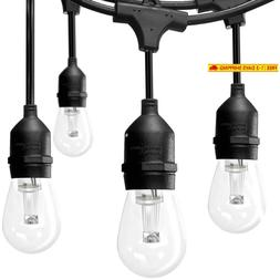 Addlon Solar Led Outdoor String Lights, Vintage Edison Plast