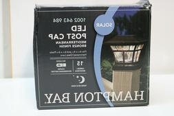 Hampton Bay Solar LED Post Cap Lamp Bronze Finish  Deck Ligh