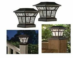 Solar Led Post Deck Cap Fence Stairs Lamp Landscape Light Wa