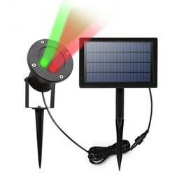 Solar LED Projection Lamp Projector Night Light Outdoor Yard