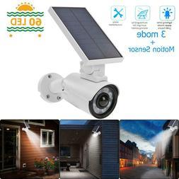Solar LED Simulation Camera Motion Sensor Wall Lamp Outdoor