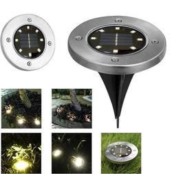 Solar Light 8LED Waterproof Solar Ground Lamp Outdoor Buried