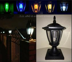 Solar Light Black Post Cap Color LED 4x4 /5x5 / 6x6 Or Wall