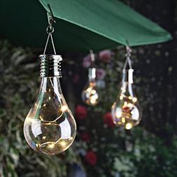 Solar Light Bulb Waterproof Solar Rotatable Outdoor Garden C