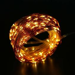 Solar Light String 22M 200LED Warm White Copper Wire  Indoor