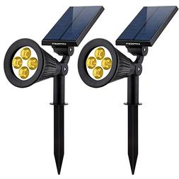 URPOWER Solar Lights 2-in-1 Solar Powered 4 LED Adjustable S