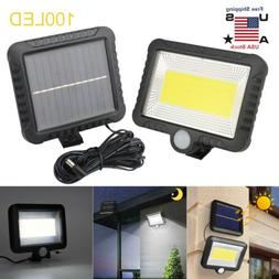 100 led solar power pir motion outdoor