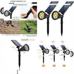 URPOWER Solar Lights 2-in-1 Powered 4 LED Adjustable Warm Wh