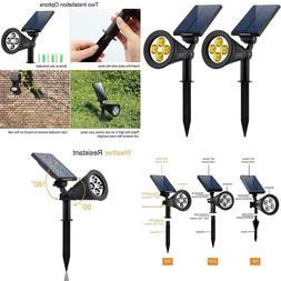 Urpower Solar Lights 2-In-1 Solar Powe 4 Led Adjustable Spot
