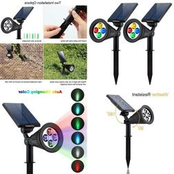 Urpower Solar Lights 2-In-1 Solar Powered 4 Led Adjustable S