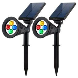 URPOWER Solar Lights 2-in-1 Powered 4 LED Adjustable Spotlig