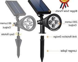 Solar Lights URPOWER 2 in 1 Waterproof 4 LED Solar Spotlight