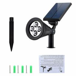 Solar Lights,URPOWER 2-in-1 Waterproof 4 LED Solar Spotlight