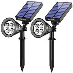 URPOWER Solar Lights 2 in 1 Solar Powered 4 LED Adjustable S