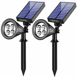 Solar Lights,URPOWER 2-in-1 Waterproof 4 LED Solar Spotlight