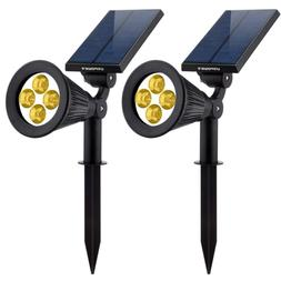 Solar Lights 2-in-1 Waterproof LED Dark Sensing Auto On/Off