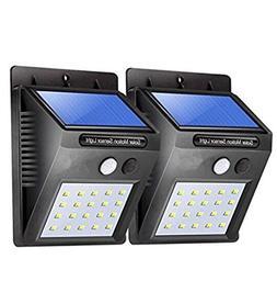 Solar Lights 20 LED 2 Pack Motion Sensor Super Bright Wall L