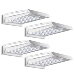 solar lights 20led aluminium 4 pack outdoor