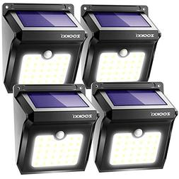 Solar Motion Sensor Lights Outdoor, ZOOKKI 28 LEDs Waterproo